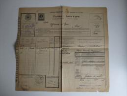 Österreich 1905 Internationaler Eisenbahntransport. Frachtbrief Deutsch - Italienisch. Tolles Dokument / Viele Stempel!! - 1850-1918 Imperium
