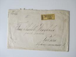 Österreich / Prag 1913 R-Brief / Einschreiben Nach Pilsen. Königl. Weinberge Kral Vinohrady 1. Siegelbrief!! - 1850-1918 Imperium
