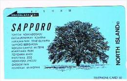 GIAPPONE  (JAPAN) - NTT (TAMURA)  -  CODE 110-015 SAPPORO, NORTH ISLAND: TREE  -  USED - RIF. 8684 - Japan