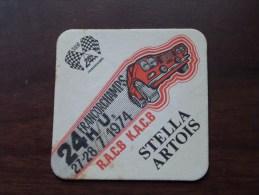 STELLA ARTOIS - 24 H Francorchamps RACB KACB 1974 ( Sous Bock / Coaster / Onderlegger ) Zie Foto´s Voor Detail ! - Beer Mats