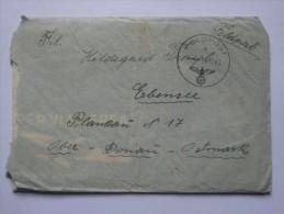 GERMANY 1943 FELDPOST ENTIRE WITH FELDPOST M MARK TO OBER DONAU OATSMARK - Briefe U. Dokumente