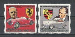 CENTRAFRICAINE 1983 PA N° 288/289 ** Neufs  = MNH  Superbes Cote 9,45 € Automobiles Ferrari Porsche Cars Voitures - Centrafricaine (République)
