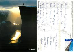 Pulpit Rock, Norway Postcard Posted 2013 Stamp - Norvège