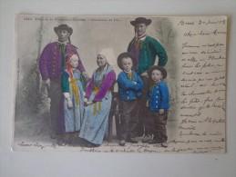 CPA 29 FAMILLE DE PLOUGASTEL DAOULAS COSTUMES DE FÊTE - Plougastel-Daoulas
