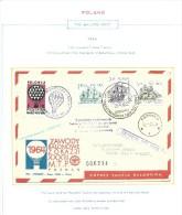 "1964. FREE BALLOON   POST RACE."" BALON POLONEZ "" AT  INTERNATIONAL POZNAN FAIR - Poste Aérienne"