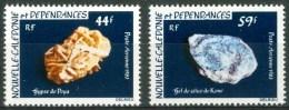 1983 Nuova Caledonia Minerali Minerals Minèraux Set MNH** F76 - Minerals