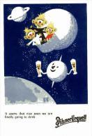 Pilsner Urquell Advertisement With Aliens Postcard : Size 15x10 Cm. Aprox. - Pubblicitari