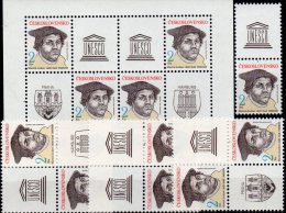 Expo Nordposta 1983 CSSR 2701,3x4-Bl.+Block 56 ** 57€ Reformator Luther Philatelic M/s Wap Se-tenant Bf Tschechoslowakei - Stamps