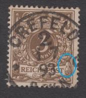 Krone Adler Nr. 45 Mit Plattenfehler I - - Errores De Grabado