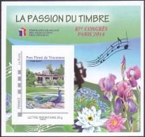 FFAP N° 9 De 2014 - Bloc Dentelé Autoadhésif - La Passion Du Timbre - 87 ème Congrès à Paris - FFAP