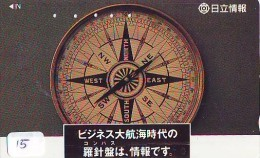 Télécarte Japon * COMPASS * JAPAN (15)  KOMPAS * KOMPASS * Phonecard * TELEFONKARTE - Astronomie