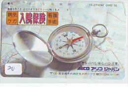 Télécarte Japon * COMPASS * JAPAN (20)  KOMPAS * KOMPASS * Phonecard * TELEFONKARTE - Astronomie