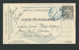 AT346 - Carte  Télégramme- 30ct  Noir - - Pneumatici