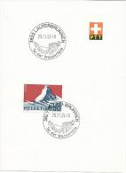 Feuillet Souvenir PTT Avec N° 434. Oblitération Lauterbrunnen - Storia Postale