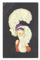FANTAISIE - Femme Des Années Folles  Dessin - Illustrateur - Mode , Chapeau  (972)b147 - Women
