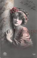 Superbe Portrait De Femme - Regard Expressif, Robe Et Noeud Avec Ajoutis - 1911 Feminine Portrait - Meaning Look - Femmes