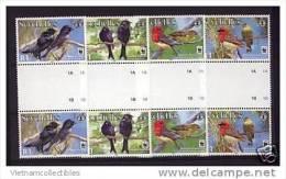 (WWF-424) W.W.F. Seychelles Birds / Bird MNH Gutter Pair 2008 - W.W.F.