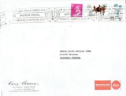 Spanien / Spain - Umschlag Echt Gelaufen / Cover Used (t529) - 1981-90 Cartas