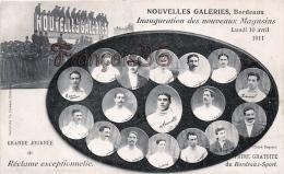 (33) Bordeaux - Nouvelles Galeries - Inauguration Des Nouveaux Magasins 10 Avril 1911 - M. Leuvielle - Bordeaux
