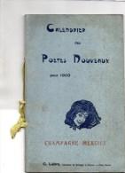 51 - EPERNAY -TRES RARE CALENDRIER  DES POETES NOUVEAUX 1903- CHAMPAGNE MERCIER-EDITEUR G. LEBRE KILLINGER FAIVRET-PARIS - Autres