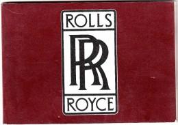 ROLLS-ROYCE MICHAEL FROSTICK-AUTOMOBILIA-ADVERTISING-REKLAM-WERBUNG- 70 PAGINE IN ITALIANO- - Motori