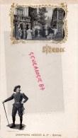 51 - EPERNAY - RARE MENU  CHAMPAGNE MERCIER - 1900- ART NOUVEAU- CYRANO DE BERGERAC - Menus