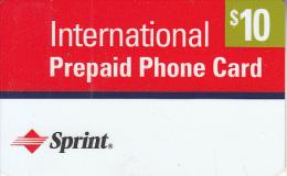 USA - Sprint Magnetic Prepaid Card $10, Unused