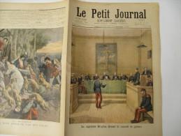 Le Petit Journal - 23 Décembre 1894 - Le Capitaine Dreyfus Devant Le Conseil De Guerre - 1850 - 1899