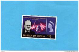 Tristan Da Cunha-n°  92 Churcill-Elisabeth Timbre Neuf ***sans Charnière Impeccable--cote De 1998==7,6 Eu - Tristan Da Cunha