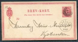 1875 Denmark Nakskov 8 Ore Brev-kort - Copenhagen - Lettere