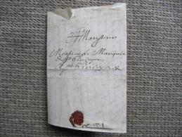 1401 LAC Pli Beziers 1691 Cachet Cire Généalogie Dufau à Monsieur Le Marquis ... - Marcophilie (Lettres)