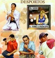 st6401b-g S.Tome Principe 2006 Sport players s/s Chess G.Kasparov /Judo W.H.Lee / Table Tenni  W.Ligin/Golf T.Woods