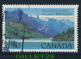 CANADA STAMPS - WATERTON LAKES - HIGH-VALUE NATIONAL PARK DEFINITIVES - SCOTT No 935 - USED - - - Timbres