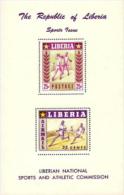 Liberia,  Scott 2014 # C90a,  Issued 1955,  S/S Of 1,  MNH,  Cat $ 18.00,  Baseball - Liberia