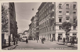 SOFIA - Rue G.S.Rakovsky, Strassenansicht, Autobus, Belebte Strasse, Fotokarte 1955 - Bulgarien