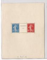 Bloc n�2 exposition internationale Strasbourg 1927, neuf sans cachet