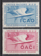 Nations-Unies (New York) N° 35 - 36 *** ICAO - OACI - 1955 - New York -  VN Hauptquartier