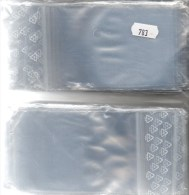 #783 Lindner 200 Große Polybeutel/Verschluß Neu 7€ Schutz/Sortieren Figuren/Abzeichen 80x120mm For Stamps,coins Of World - Figurines En Métal