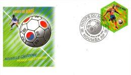 NOUVELLE-CALEDONIE. N° 868 Sur Enveloppe 1er Jour (FDC) De 2002. Coupe Du Monde De Foot. 2002. - Copa Mundial