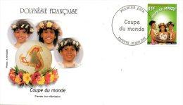 POLYNESIE. N° 668 Sur Enveloppe 1er Jour (FDC) De 2002. Coupe Du Monde De Foot. 2002. - Copa Mundial