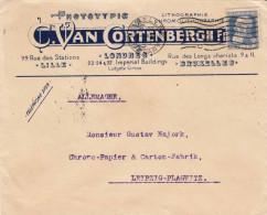 BELGIEN 1908 - 25 C Auf Firmenbrief Mit Firmenlogo, Gel.v.Bruxelles Nach Leipzig-Plagwitz - Belgien