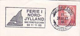 1993 DENMARK Stamps COVER  SLOGAN Pmk  HOLIDAY NORD JYLLAND - Cartas