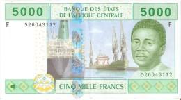 BILLETE DE GUINEA ECUATORIAL DE 5000 FRANCS DEL AÑO 2002  (BANKNOTE) - Guinée Equatoriale