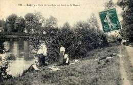 77- LAGNY- Coin De Verdure Au Bord De La Marne- Pêcheurs à La Ligne  Très Animée - Lagny Sur Marne