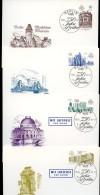 DDR P95-98 Postkarten 750 J. BERLIN Sost. 1987 Kat. 18,00 € - Architektur