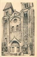 12 - CONQUES - L'Eglise (XIe S.) - Façade Principale - France