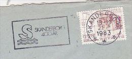 1983 DENMARK Stamps COVER SLOGAN Pmk  SKANDERBORG 400th ANNIV - Cartas