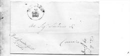 1860  LETTERA CON ANNULLO VALLO SALERNO - 1. ...-1850 Prefilatelia