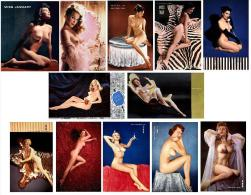 Playmate Playboy  COLLECTION 1954 (12 GIRLS)  - Cartel Affiche - Size:15x18 Cm. Aprox. - Calendarios