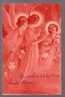 3 Woman Art Nouveau As Angels Play Arp Artis Drawn Ca1900 Original Postcard Cpa Ak (W4_183) - Angeles